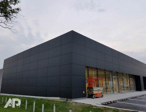Mini Dealership Building Wrap