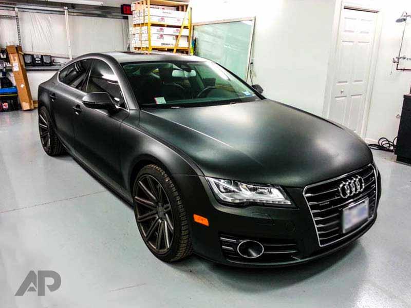 Matte Black Car Wrap >> Matte Black Audi A7 Wrap Absolute Perfection