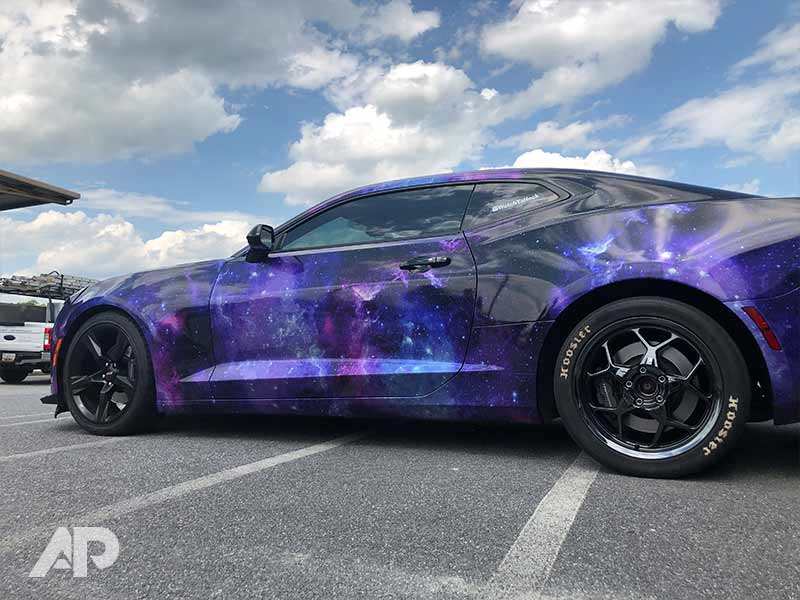 Custom Metallic Galaxy Wrap Vehicle Wrapping