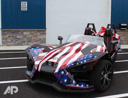 Polaris Slingshot American Flag Wrap