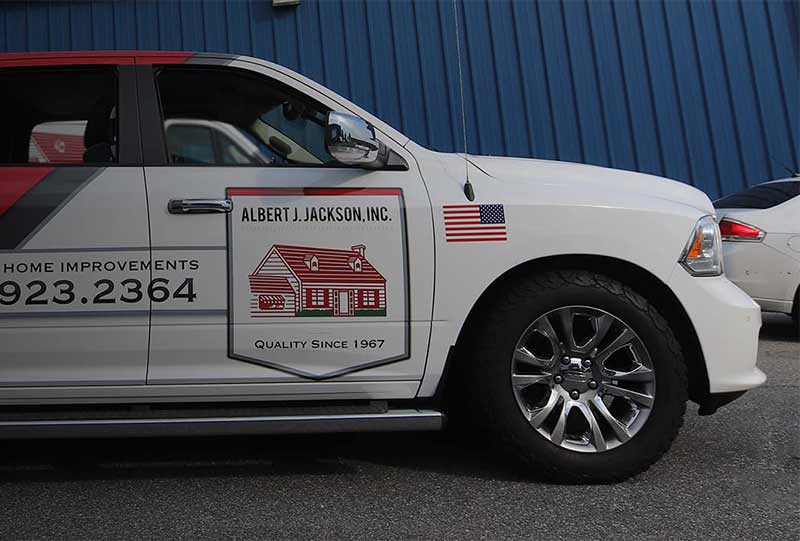Truck wrapping company in Maryland