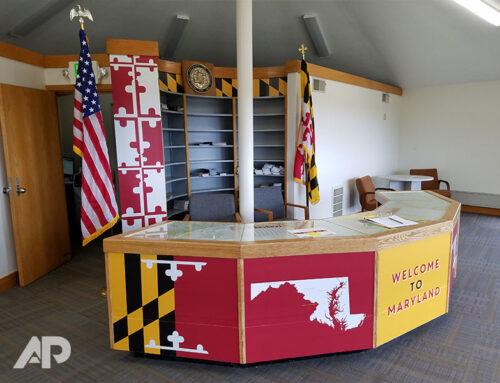 Maryland Visitor Center Signage