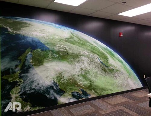 Globe Wall Mural Baltimore Maryland