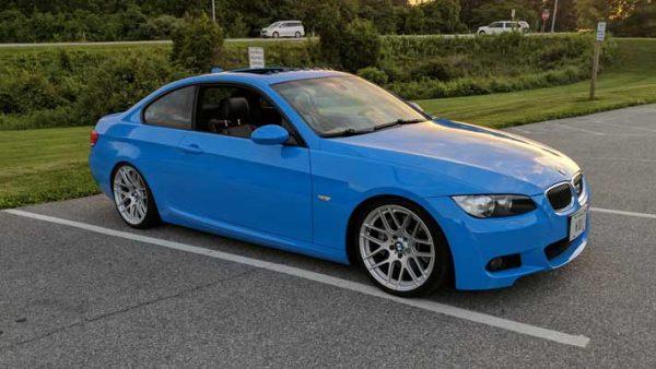 Blue Gloss Vehicle Wrap on BMW