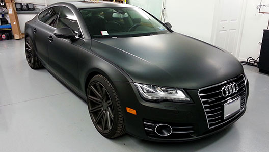 Black Matte Vehicle Wrap on Audi