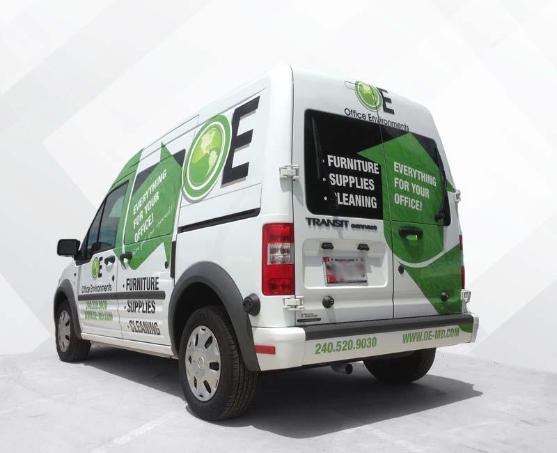 Advertising Wrap Ford Transit Van