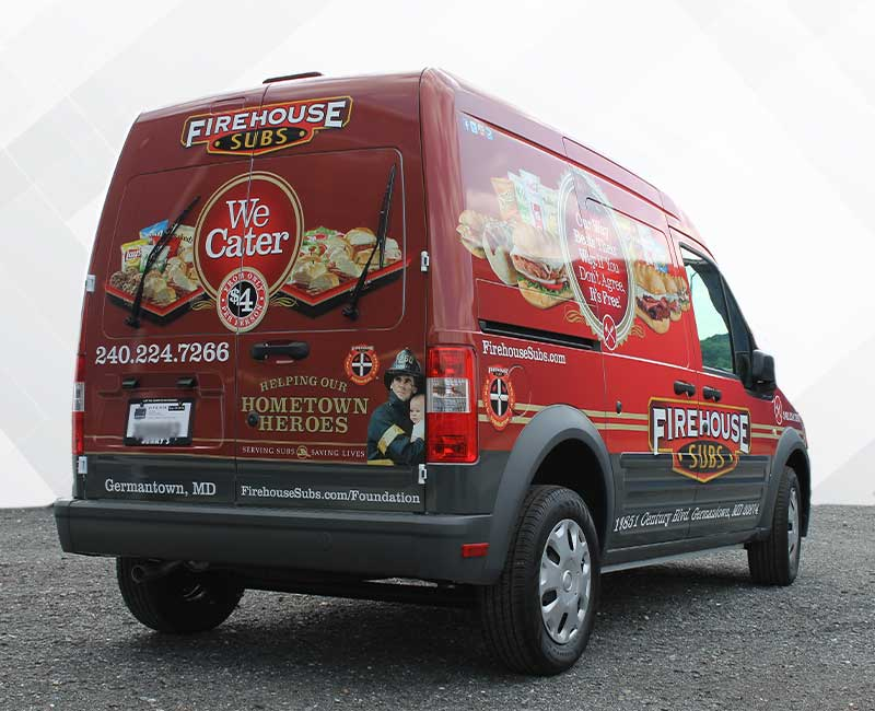 Advertising Wrap Sprinter Van Firehouse Subs