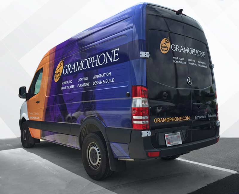 Advertising Wrap Sprinter Van Gramaphone