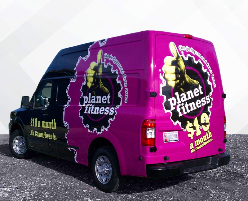 Advertising Wrap Sprinter Van Planet Fitness