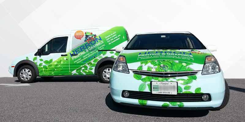 Advertising fleet wrap van car