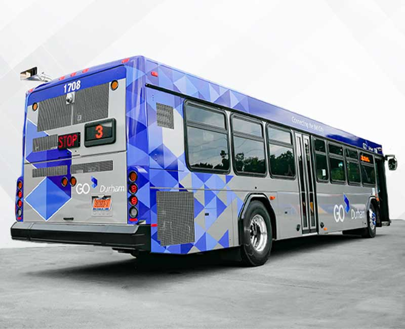 Bus Vehicle Wraps Go Durham
