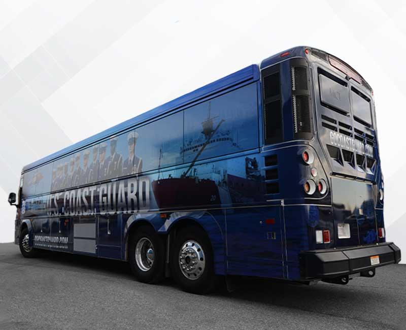 Bus Vehicle Wraps United States Coast Guard
