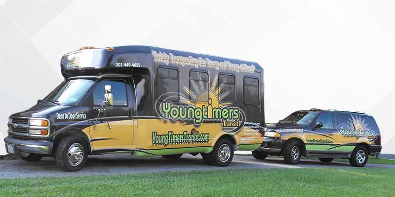 Chevy chase Maryland transit bus van fleet wraps