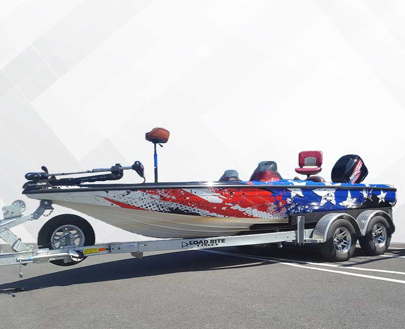 Custom Speed Boat Wrap American Flag USA