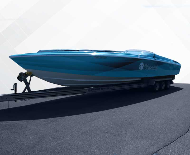 Custom Speed Boat Wrap