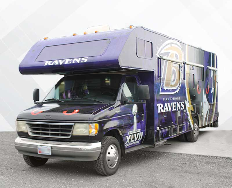 Custom Vehicle Wrap Ravens RV