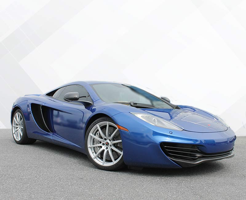 Custom Vehicle Wraps Chrome Blue Mclaren