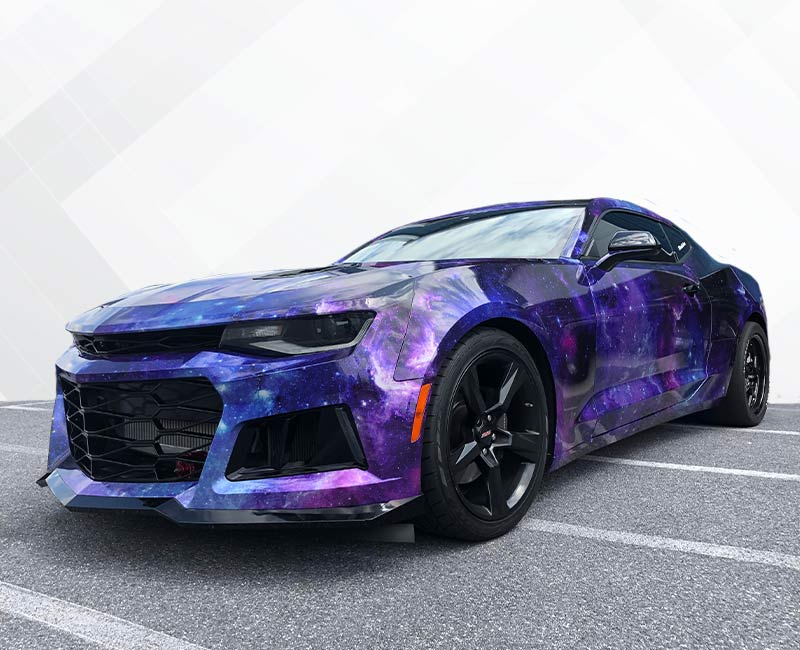 Custom Vehicle Wraps Metallic Galaxy Camero
