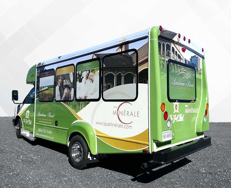 Mini Transit Bus Vehicle Wraps