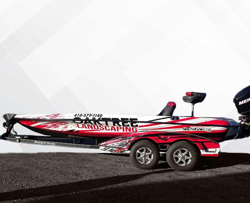 Speed Boat Advertising Wrap