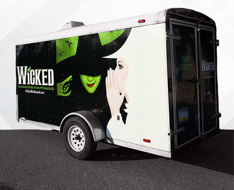 Trailer Advertising Wrap Wicked
