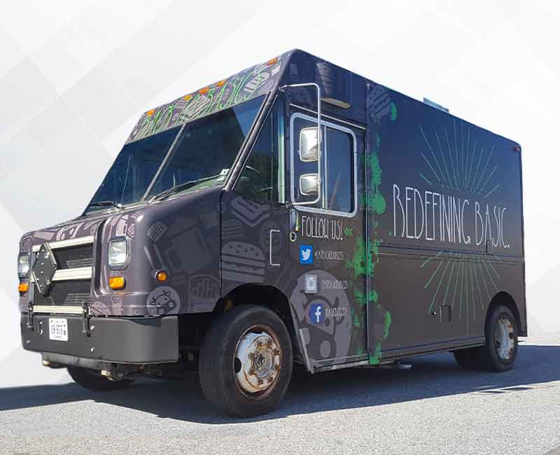 advertising BBQ food truck wrap