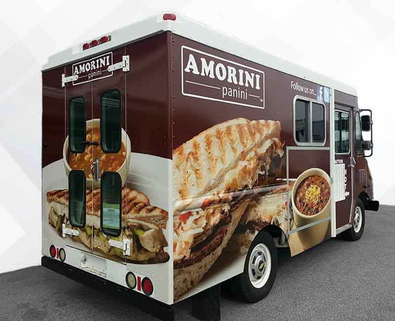 advertising food truck delivery van wrap