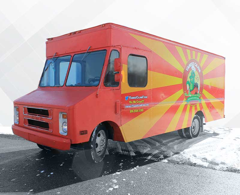 advertising food truck delivery wrap