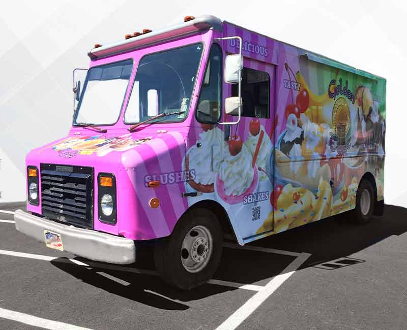 advertising ice cream truck wrap