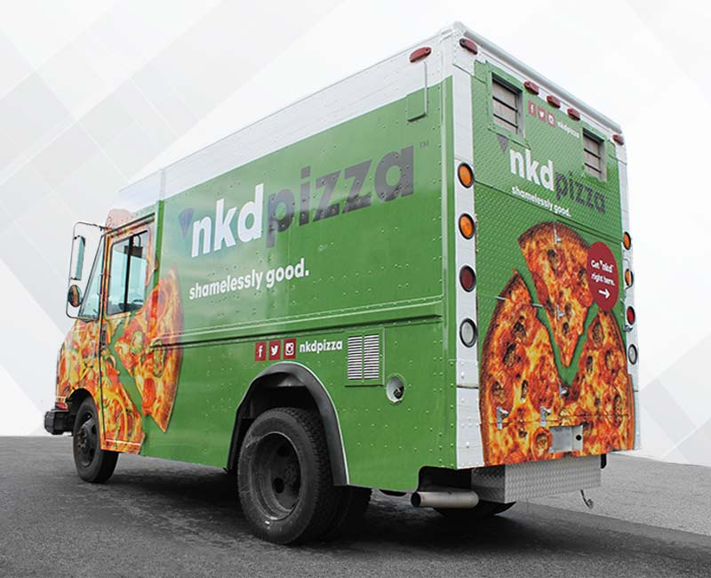 advertising pizza food truck wrap