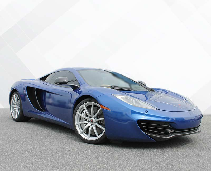 color change wrap blue McLaren
