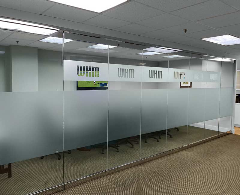 commercial conference privacy frost window film