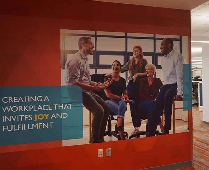 commercial wall graphics murals positive workspace
