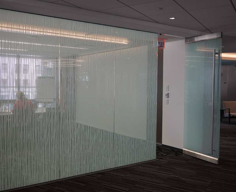 commercial window frost conference room graphics