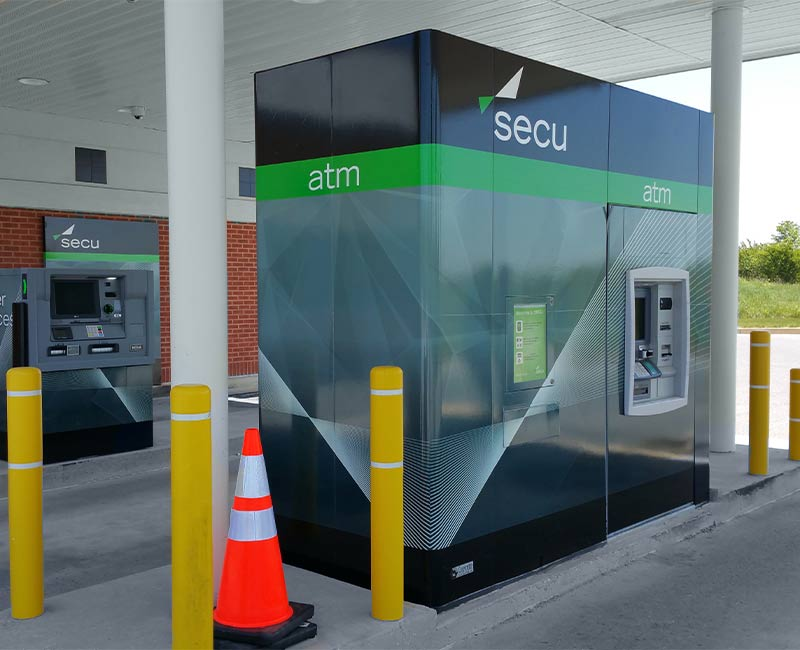 custom printed uv ATM Graphics wrap