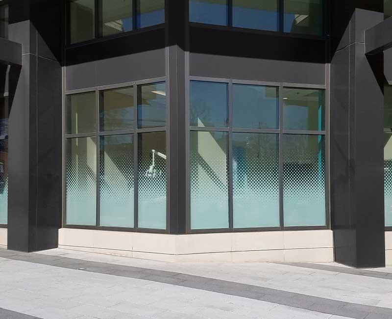 custom printed uv exterior privacy decorative window film