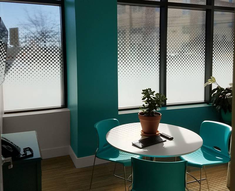 custom printed uv interior privacy decorative window film