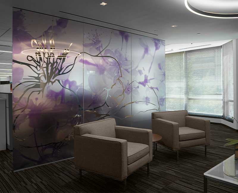 frosted window film decorative waiting room