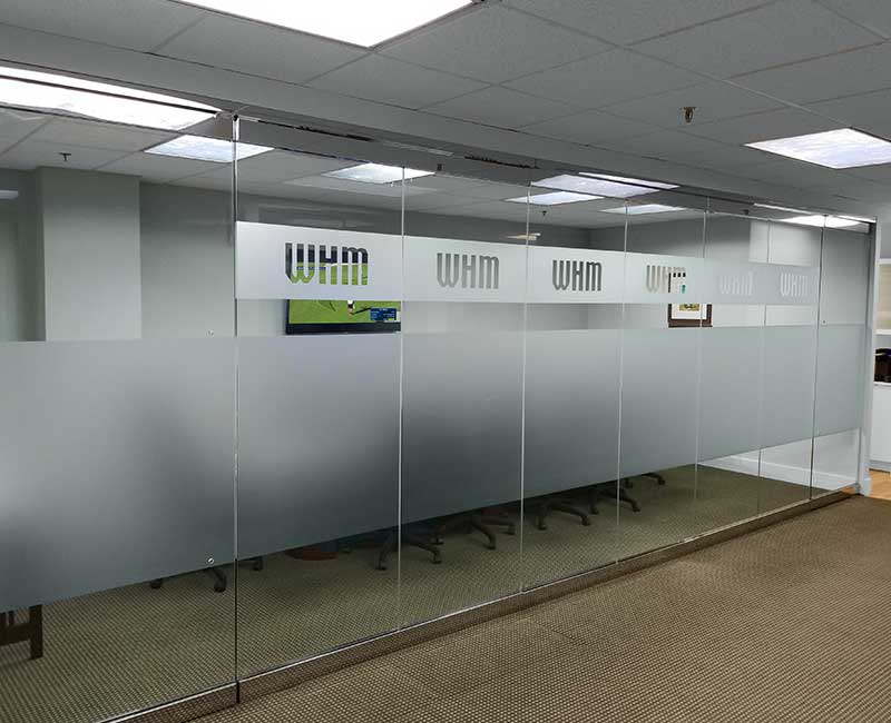 frosted window film privacy conference room glass