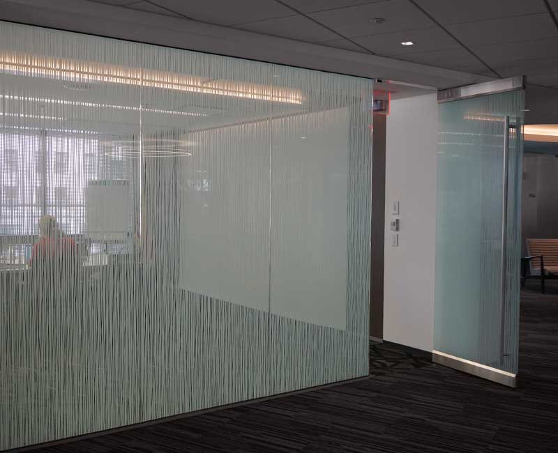 frosted window film privacy conference room