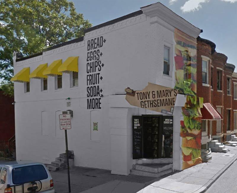 full vinyl building wrap advertisement