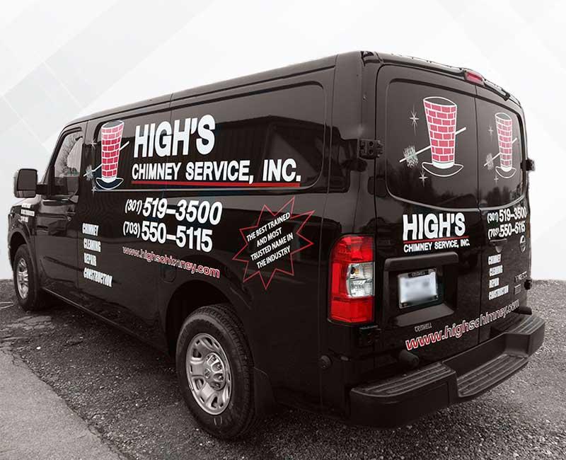 lettering vehicle advertisement express van