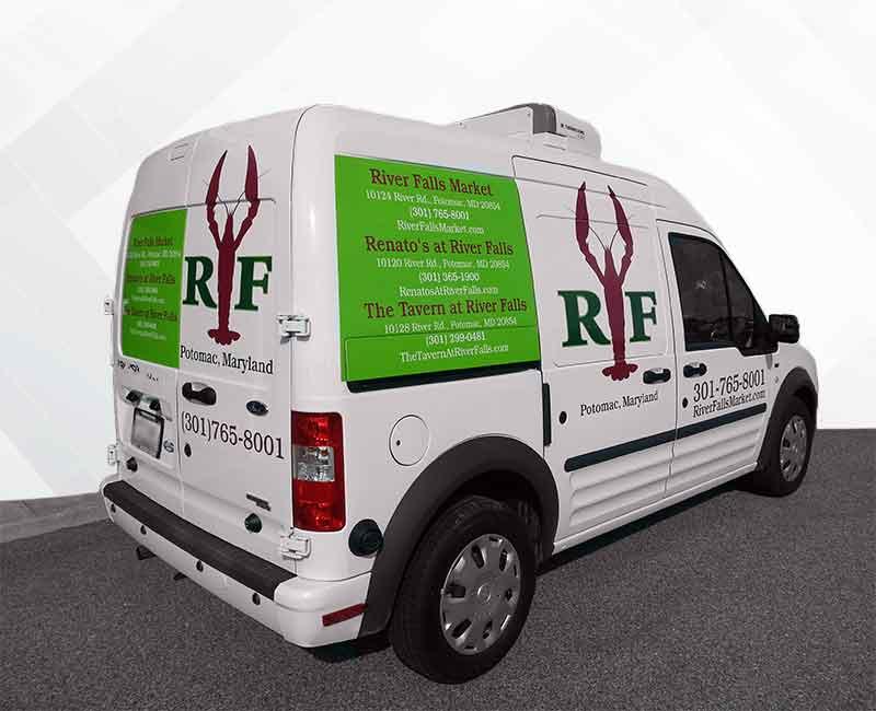 lettering vehicle advertisement ford transit van