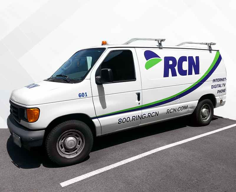 lettering vehicle advertisement work van