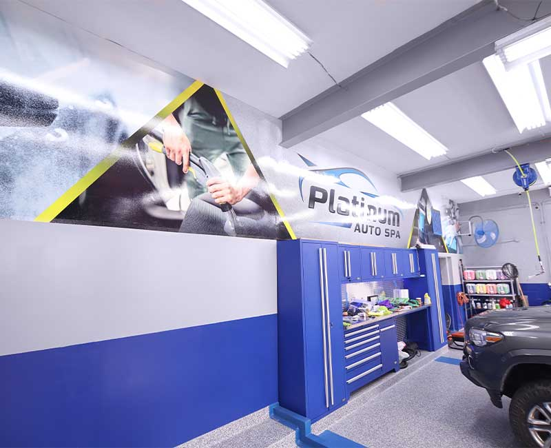 office wall coverings advertising mural auto spa