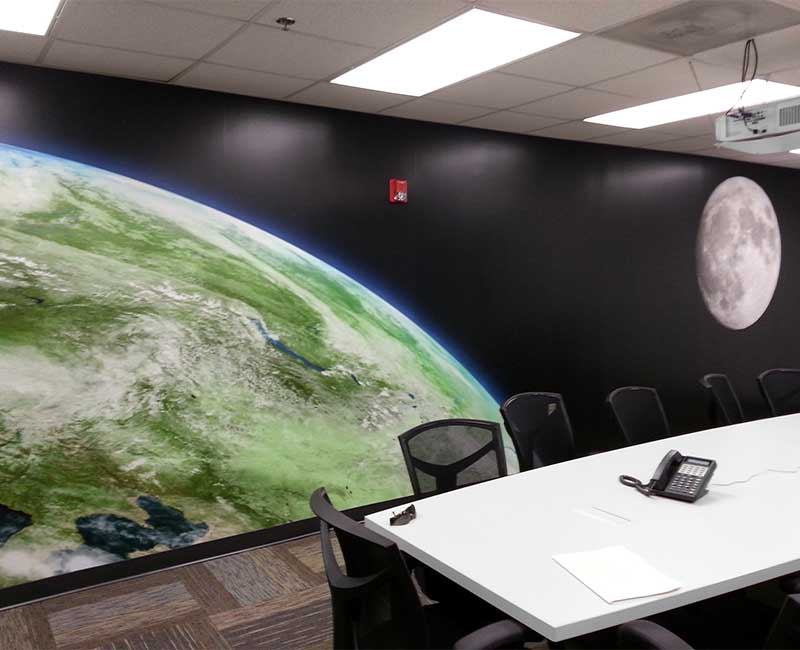 office wall coverings murals space decorative