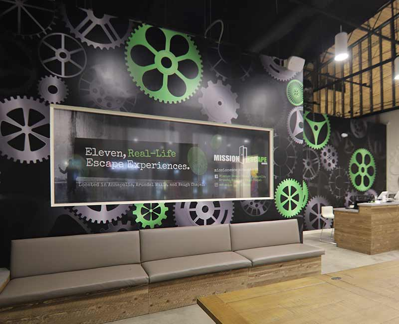 wall coverings mural graphics Escape Room