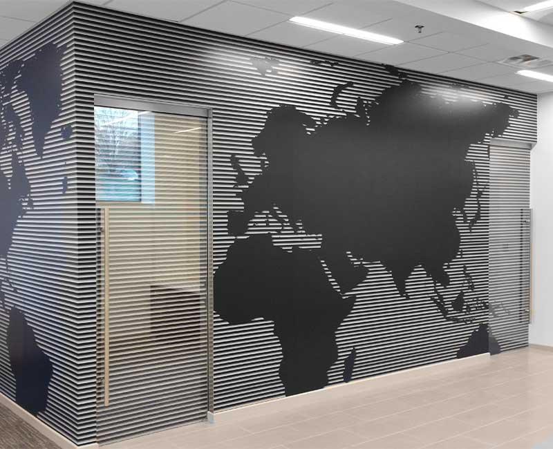 wall mural world map bank decorative